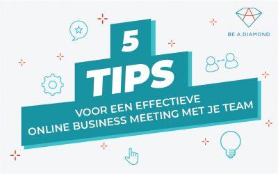 5 communicatie tips voor een effectieve online business meeting met je team